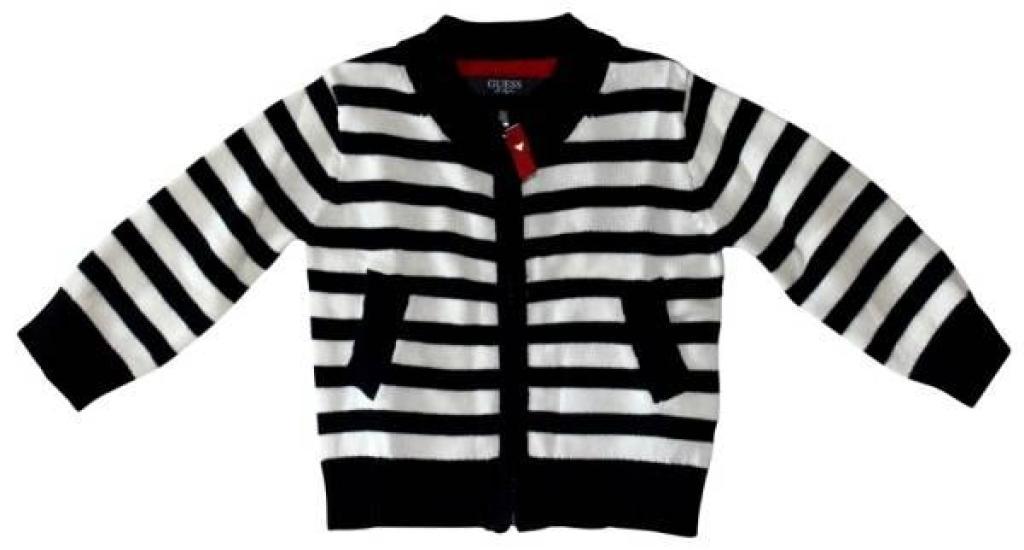 Gilet Rayé Garçon 12 mois de chez Guess Enfant, collection Baby Jeans Boys