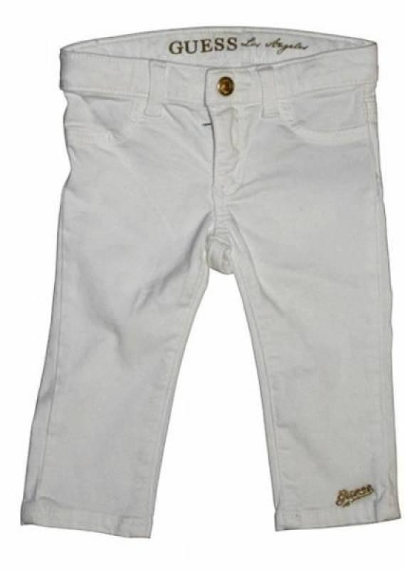 Guess Enfant Pantalon Stretch Blanc 3-6 Mois