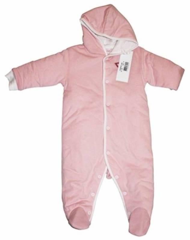 Pilote à Capuche Rose 9/12 mois de chez Guess Enfant, collection Baby Jeans Girls
