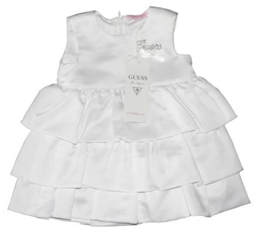 Robe Blanche à Volants 24 mois de chez Guess Enfant, collection Baby Jeans Girls