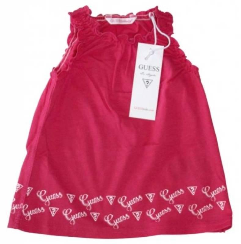 Guess Enfant Robe Rose Exotique 18 mois