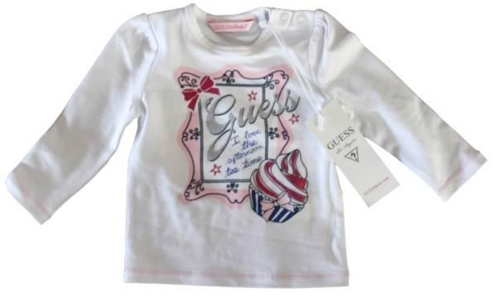 Guess Enfant Tee-Shirt Blanc Fille 12 mois
