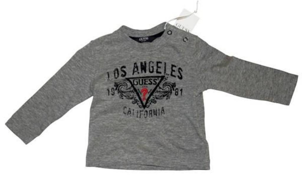 Guess Enfant Tee-Shirt Manches Longues Gris 9/12 mois
