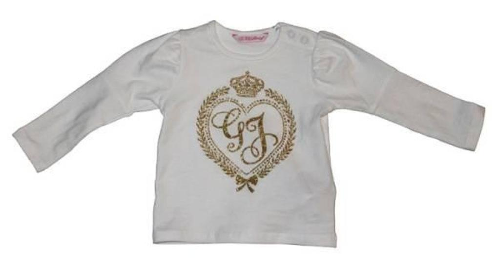 Tee-Shirt Manches Longues Whipped Cream 6/9 mois de chez Guess Enfant, collection Baby Jeans Girls