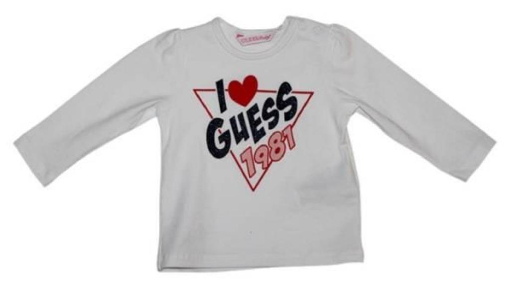 Guess Enfant Tee-Shirt Optic White 6/9 mois