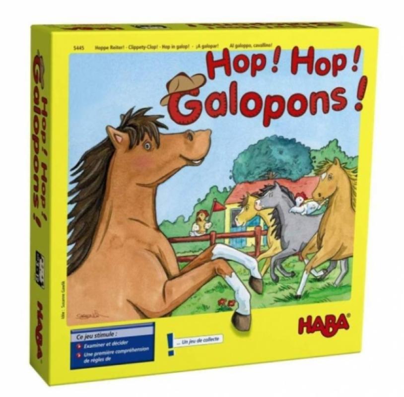 Haba Jeu de Société Hop ! Hop ! Galopons !