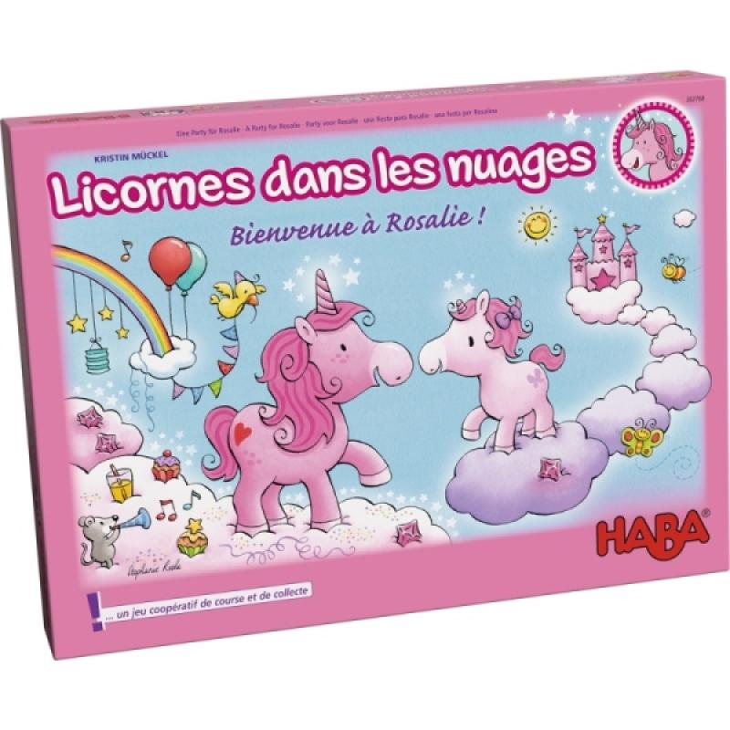 Haba Jeu de société Licornes dans les nuages - Bienvenue à Rosalie