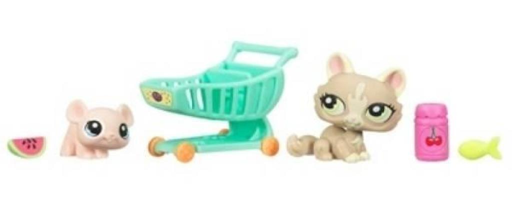 Hasbro petshop en fleur chaton et souris - Petshop chaton ...