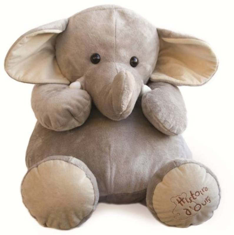 Histoire d Ours Peluche Eléphant - 60 cm