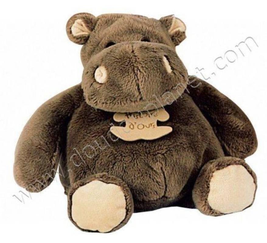 histoire d ours peluche hippopotame 23 cm. Black Bedroom Furniture Sets. Home Design Ideas