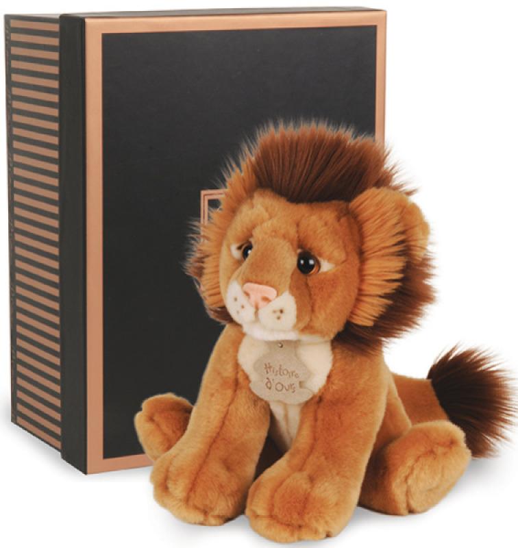 Histoire d Ours Peluche Lion Les Authentiques - 20 cm