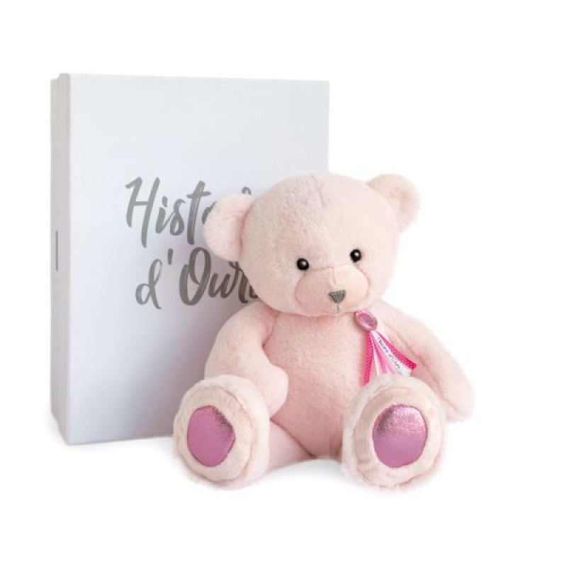 Histoire d Ours Peluche Ours Rose Sorbet Charms 40 cm