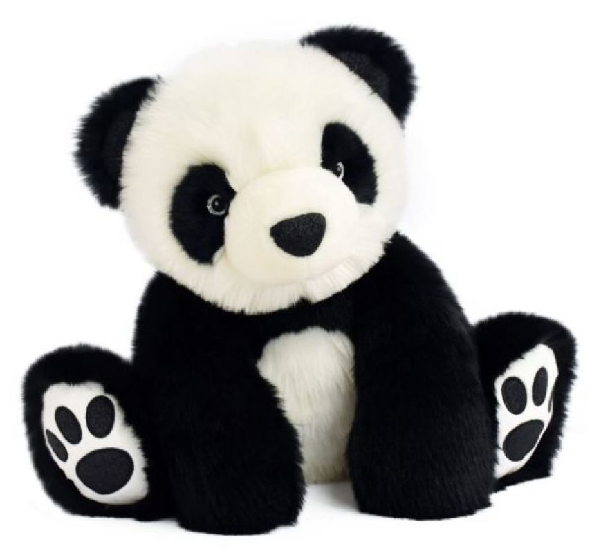 Histoire d Ours Peluche Panda Noir So Chic - 25 cm