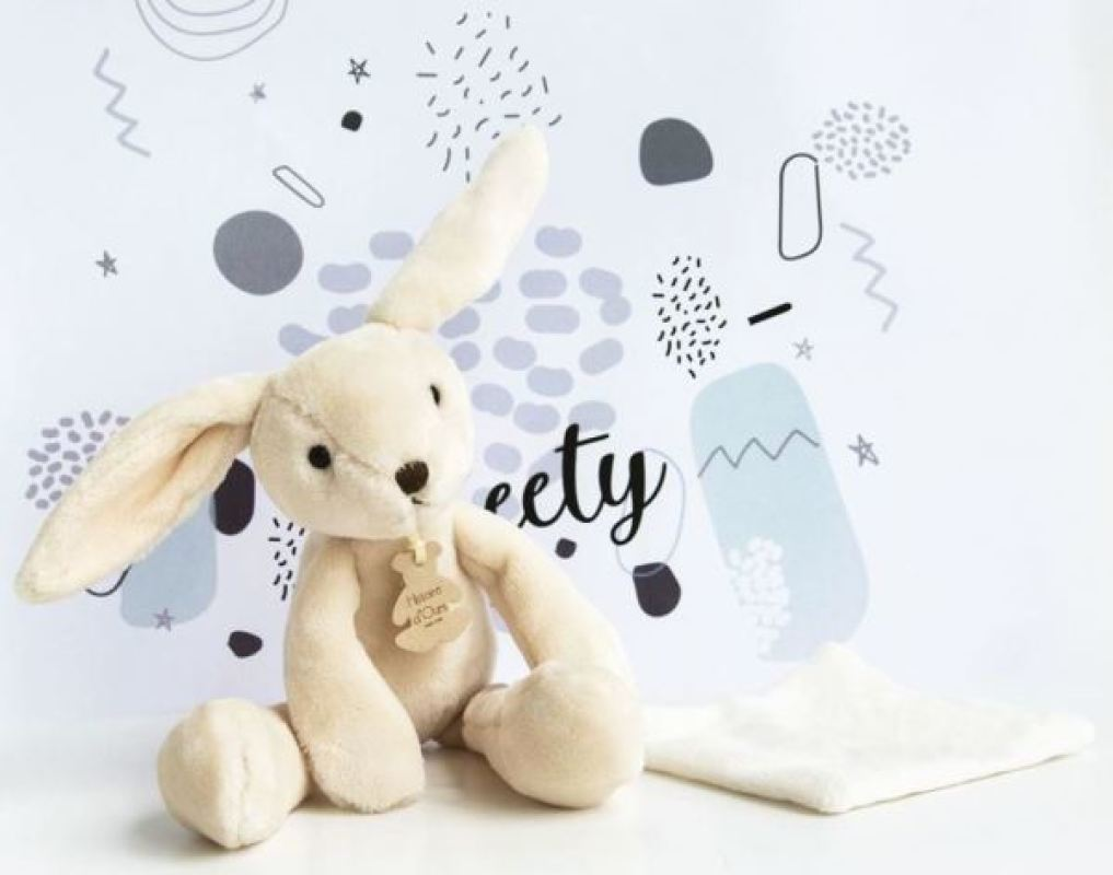 Histoire d Ours Peluche Pantin Lapin Beige Sweety - 30 cm