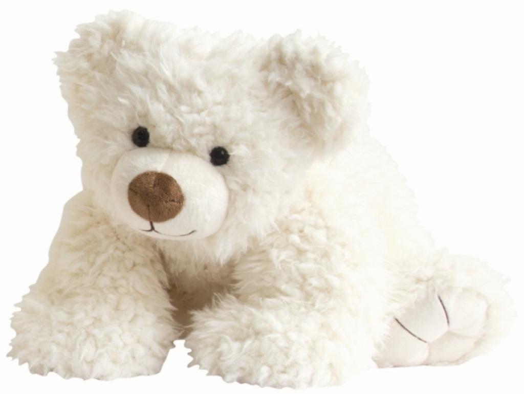 Histoire d Ours Peluche Pat'Ours Blanc - 50 cm