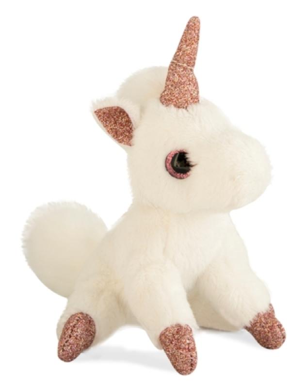 Histoire d/'Ours Doudou marionnette chat blanc rose 22 cm Peluche bébé fille NEUF