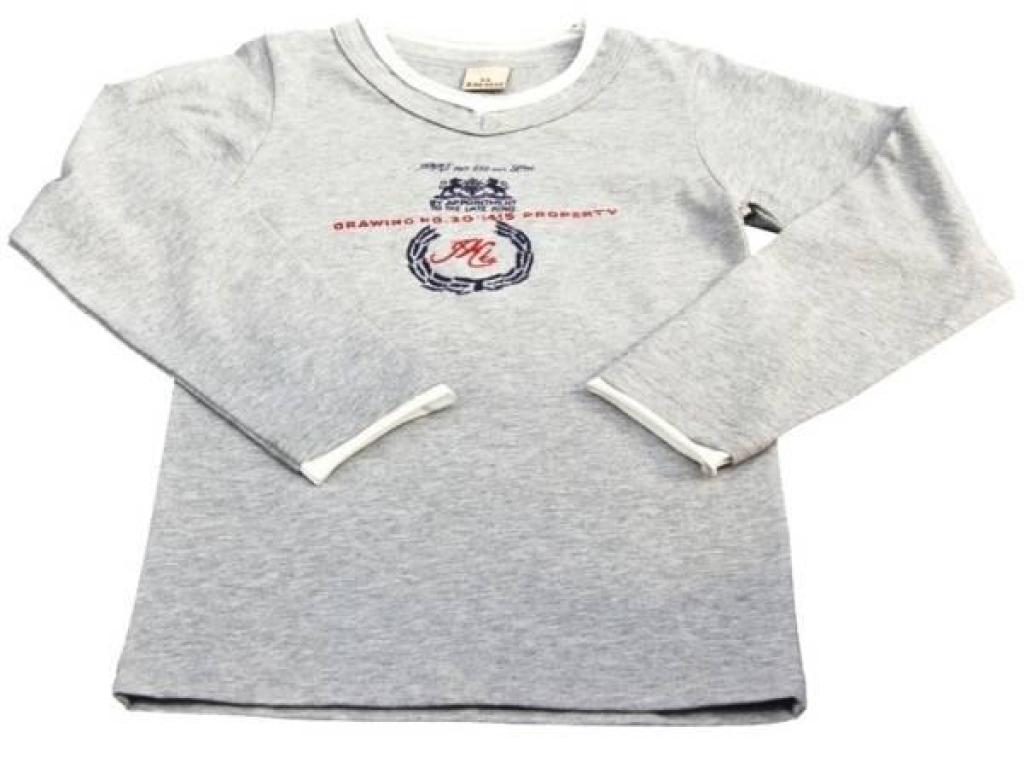 IKKS Tee-Shirt Basic Kid Gris Garçon