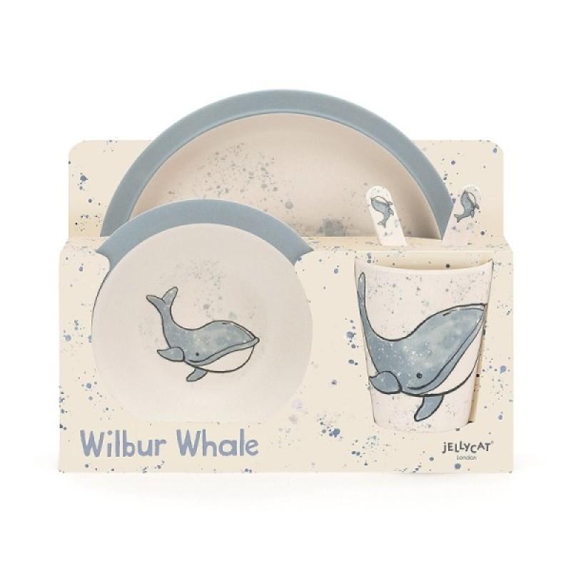 Jellycat Coffret Repas Bambou Baleine