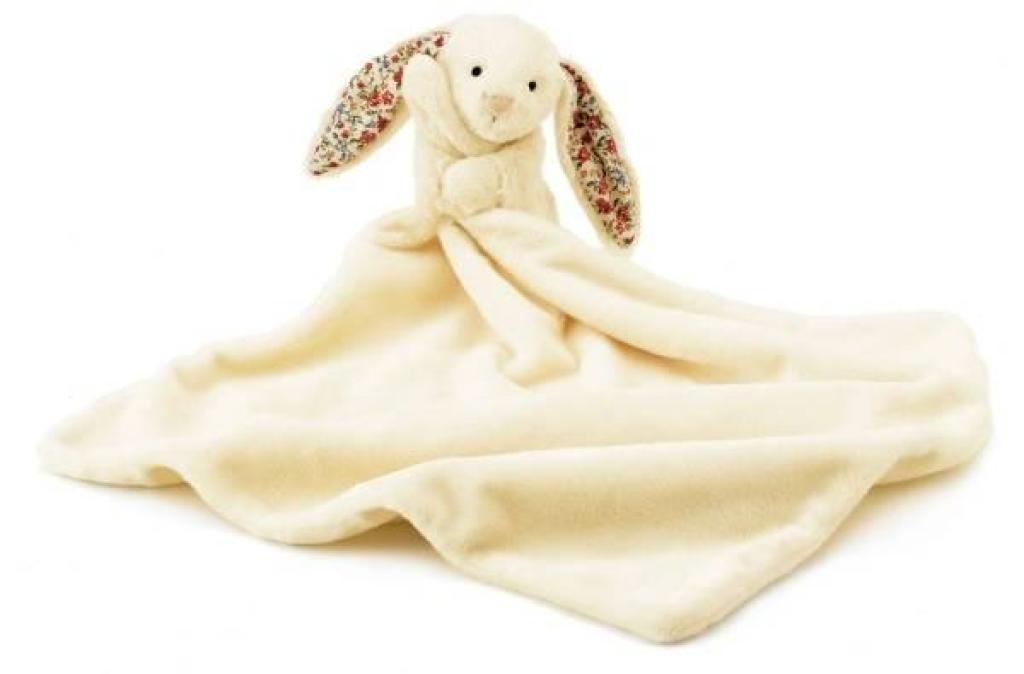 Jellycat Doudou Lapin Bashful Blossom Crème
