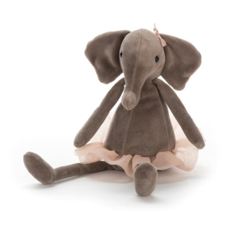 Peluche Eléphant Dancing Darcey - 23 cm de chez Jellycat, collection Tutu Fabulous