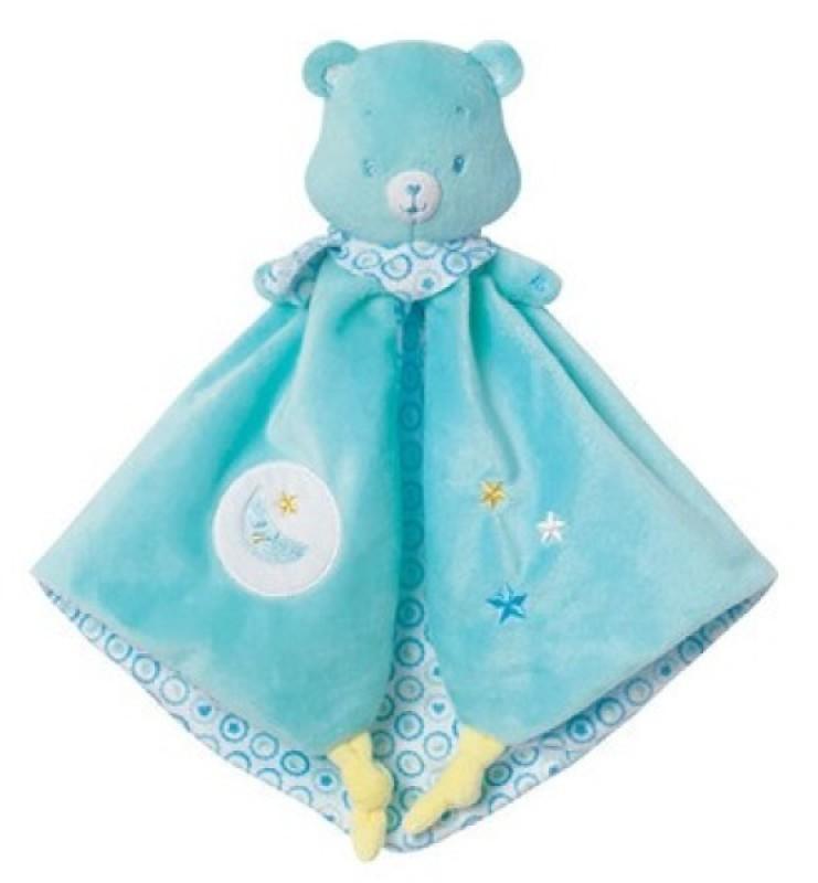 Jemini Doudou Bisounours Baby Bleu Vert - Toudodo