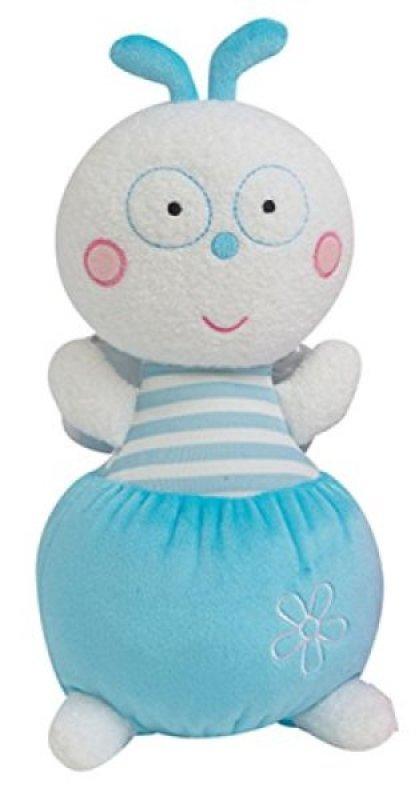 Jemini Peluche Hochet Luminou Luciole Bleu - 21 cm