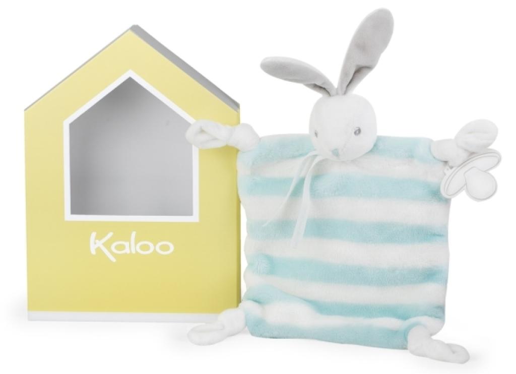 Kaloo Doudou Lapin Aqua et Crème Bébé Pastel - 20 cm