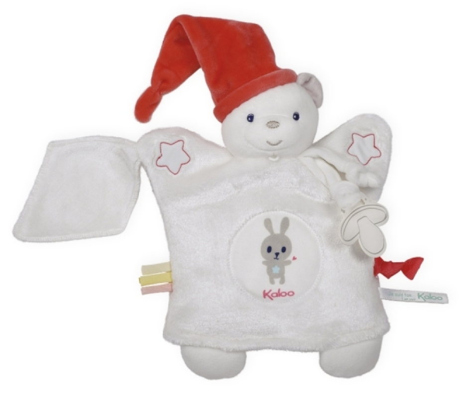 Kaloo Doudou Marionnette Ourson Blanc Imagine