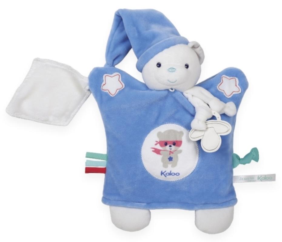 Kaloo Doudou Marionnette Ourson Bleu Imagine