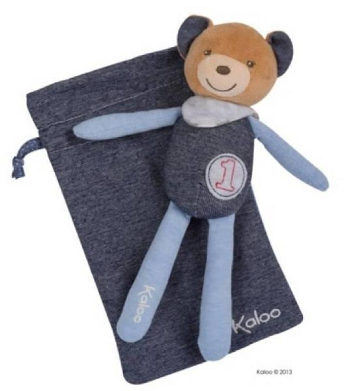 Kaloo Peluche Ours Champion Blue Denim - 20 cm
