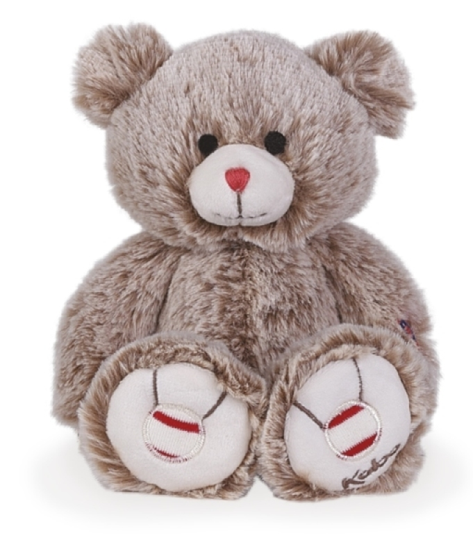 Kaloo Peluche Petit Ours Sable - Rouge