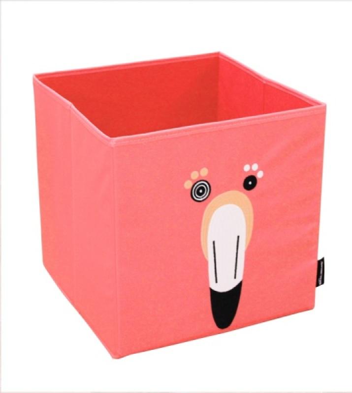 Les Déglingos Boite de Rangement Flamingos Le Flamant Rose