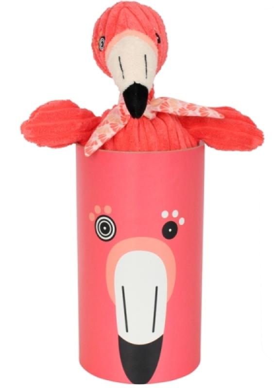 Peluche Flamingos Le Flamant Rose Simply - 33 cm de chez Les Déglingos, collection Flamingos le Flamant Rose