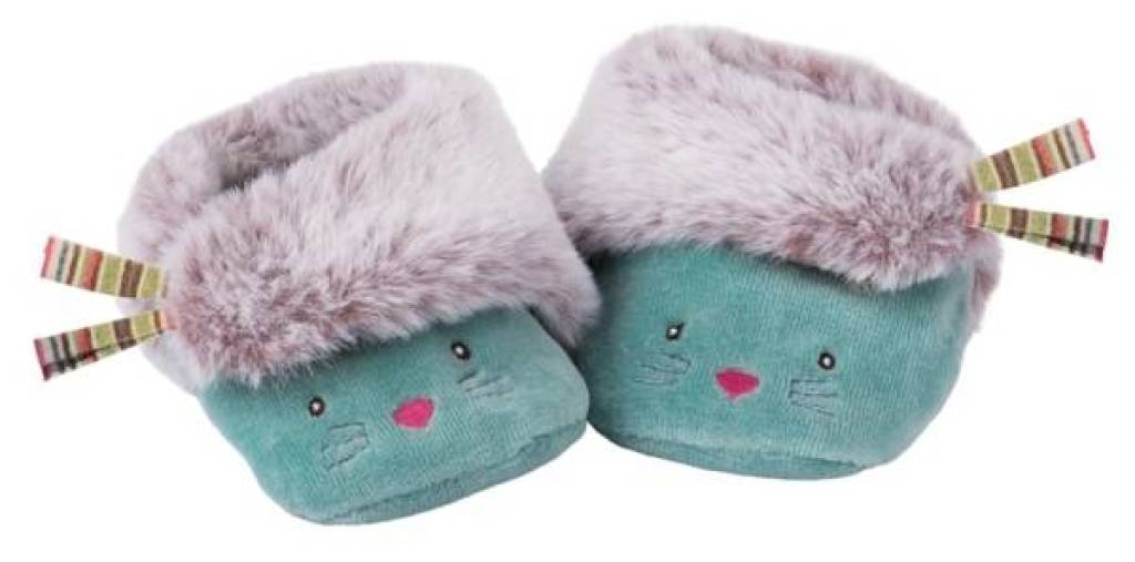 Moulin Roty Chaussons Chat Bleu Les Pachats