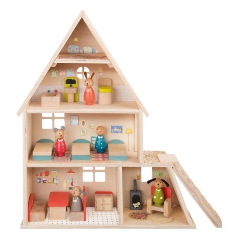 Marque moulin roty nom maison de poup e la grande famille age 3 ans - Magasin maison de famille ...