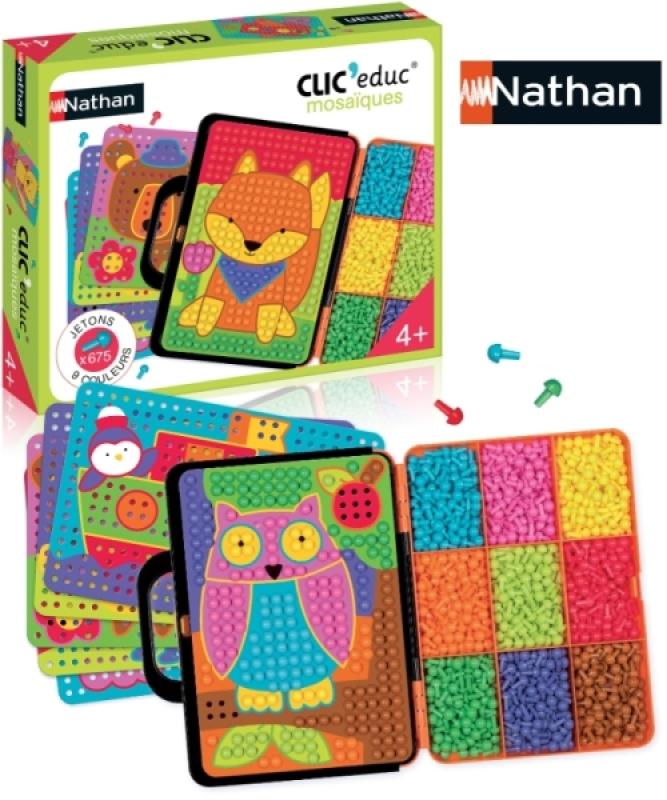 Nathan Jeux Clic'educ Mosaïques