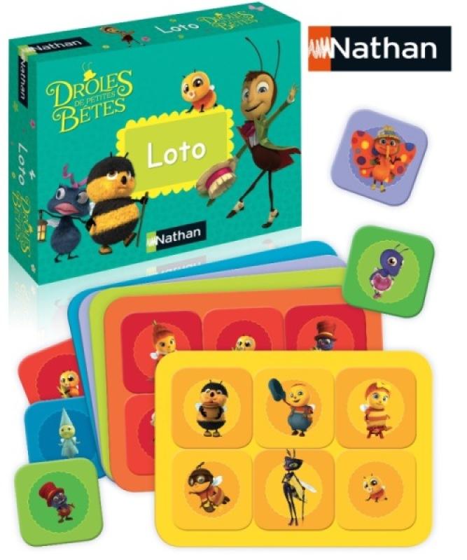 Nathan Jeux Loto Droles de Petites Bêtes