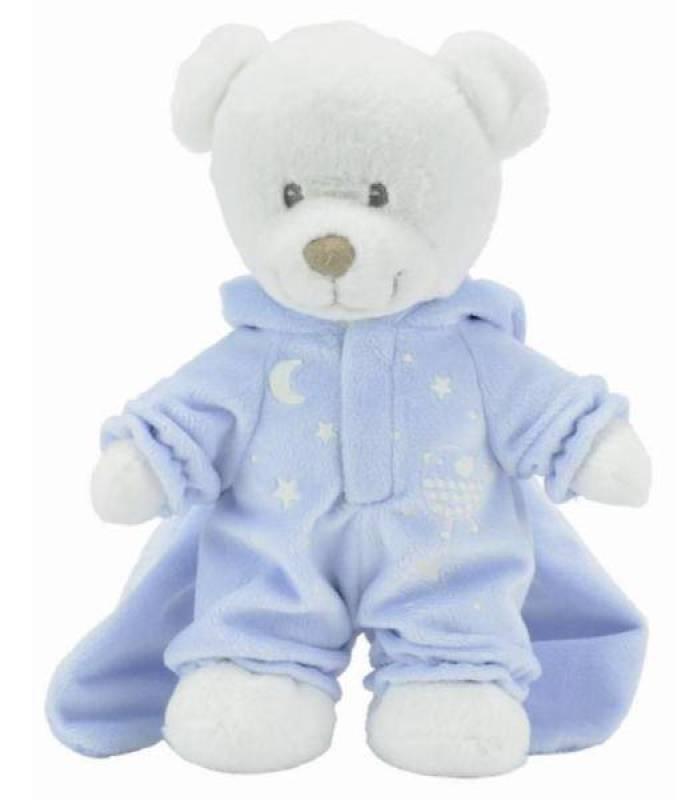 Nicotoy Peluche Ours Bleu Glow Dark - 25 cm