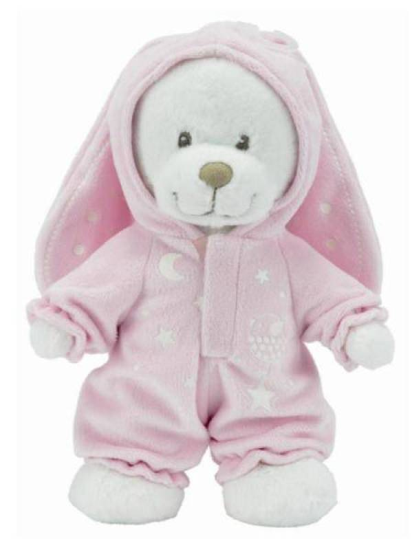 Nicotoy Peluche Ours Rose Glow Dark - 25 cm