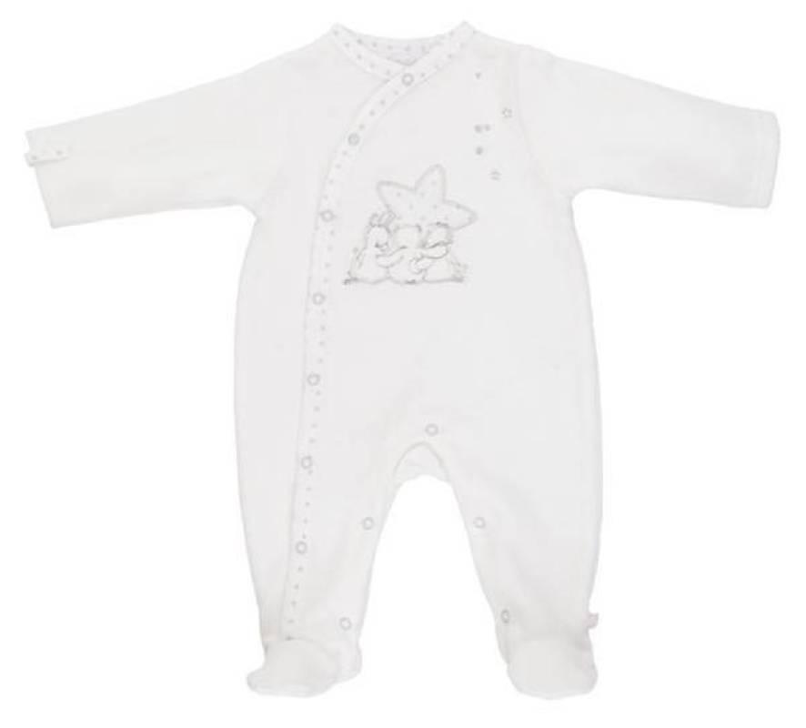Noukies Pyjama Blanc Poudre d'Etoiles - 6 mois