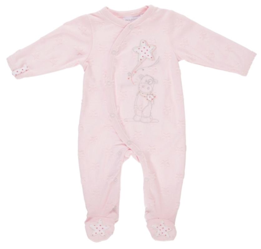 Pyjama Lola Etoiles Jersey Rose - 1 mois de chez Noukies, collection Pyjamas Fille