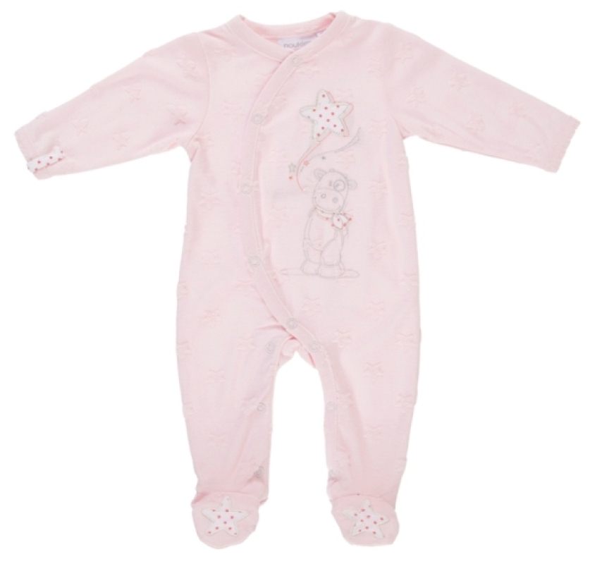 Pyjama Lola Etoiles Jersey Rose - 3 mois de chez Noukies, collection Pyjamas Fille