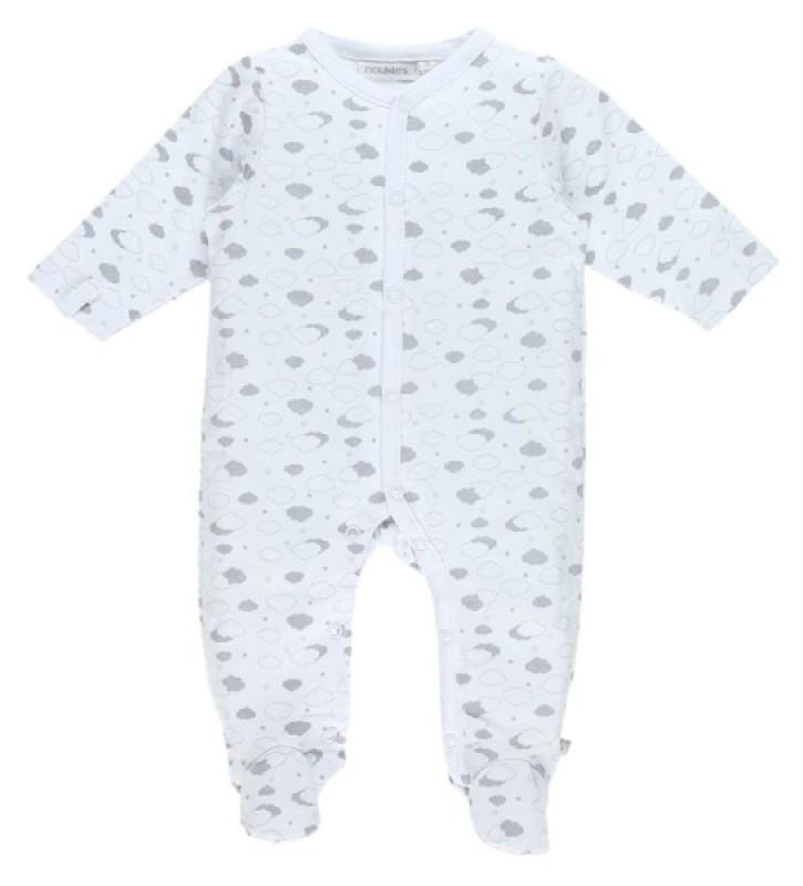 Noukies Pyjama gris poudre d'etoiles 1 mois