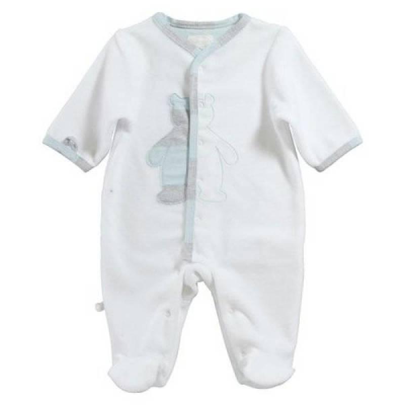 Noukies pyjama ours nouky blanc 6 mois doudouplanet for Plante 6 mois