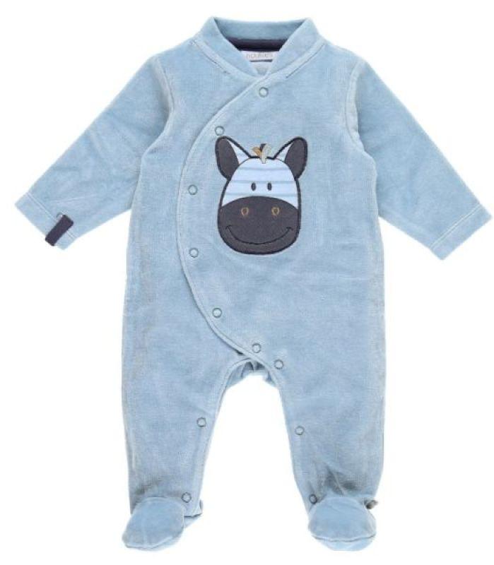 Noukies Pyjama Zèbre Zebrito Bleu Arona