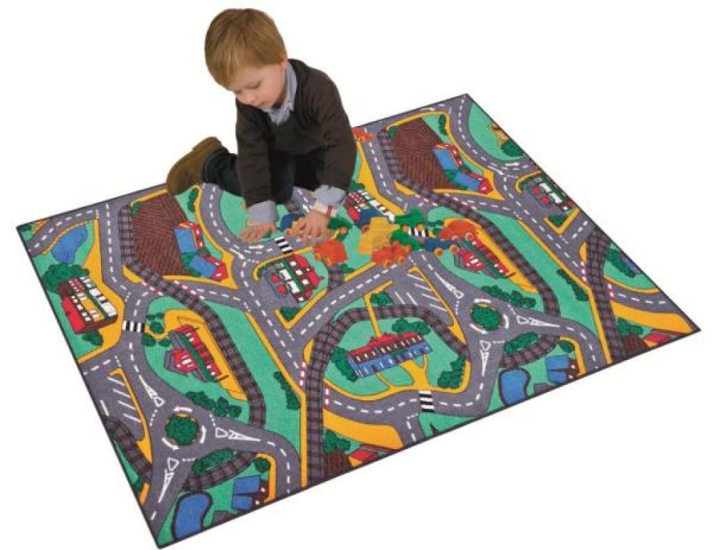 Paradiso Toys Tapis Circuit Campagne - 67x100 cm