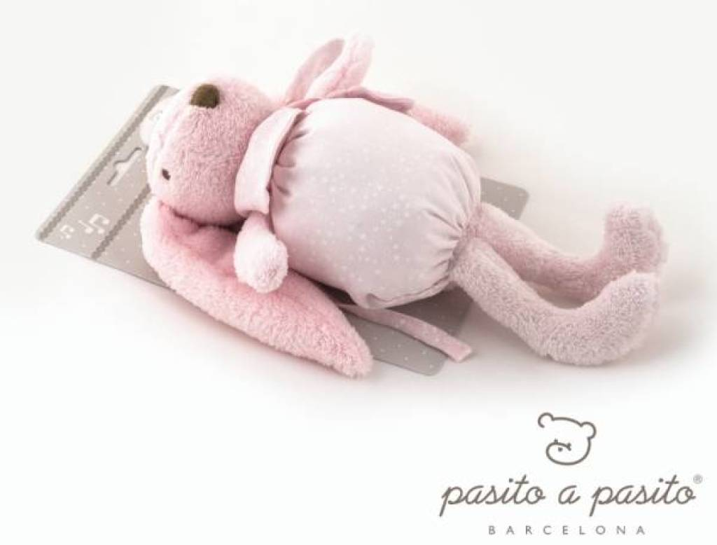 Pasito A Pasito Peluche Musicale Lapin Etoile Rose - 25 cm