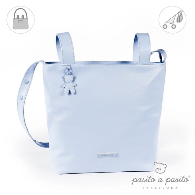 Petit Sac à Langer Catania Bleu de chez Pasito A Pasito, collection Fin de Collection Pasito