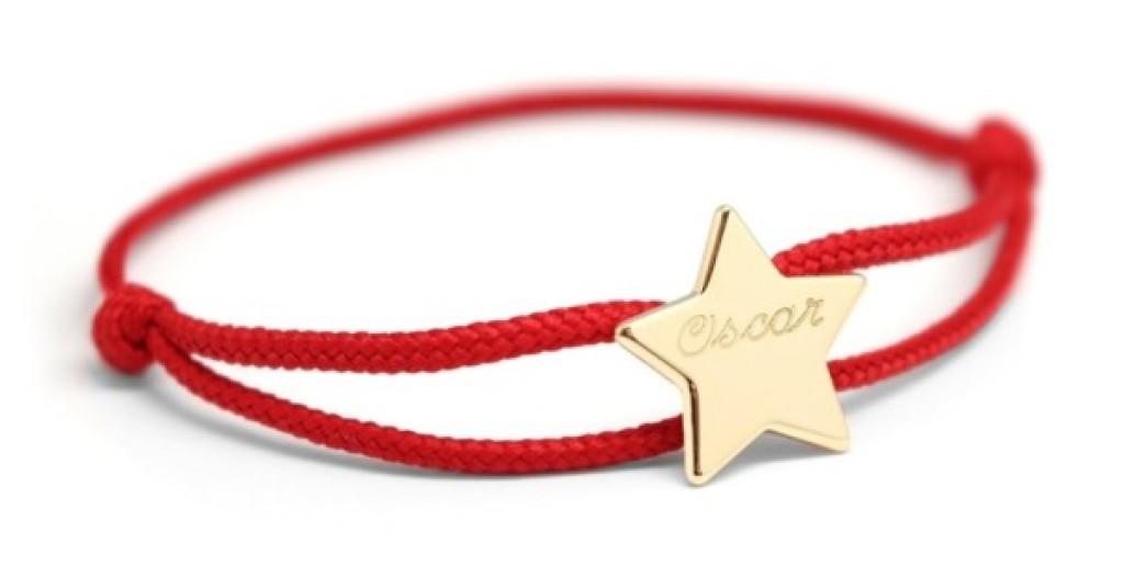 Petits Trésors Bracelet Cordon Etoile Plaqué Or