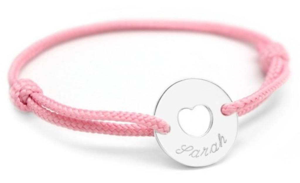 Petits Trésors Bracelet Mini Jeton Coeur Argent